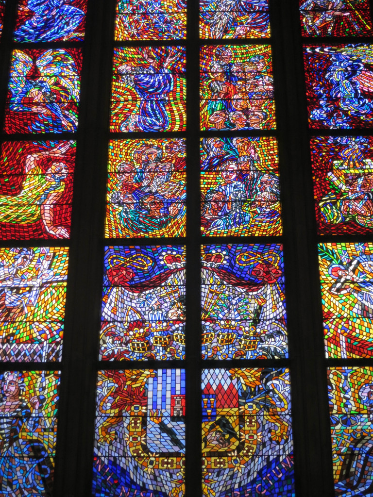 St. Vitus Cathedral Stained Glass Prague, Czech Republic