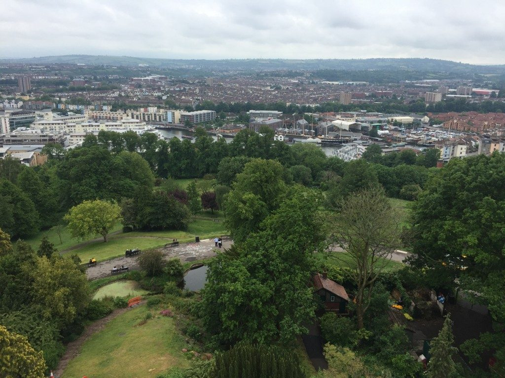 Bristol Cathedral and Cabot Tower in Brandon Hill