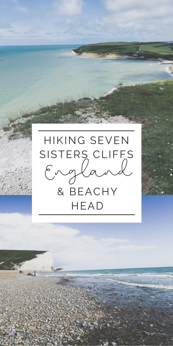 Everything you need to know about hiking at Seven Sisters to Beachy Head. Including various routes, tips, searching for fossils and sea glass, and more. See one of the most breathtaking sights in all of England at the chalk cliffs. #england #hiking #travel #uk