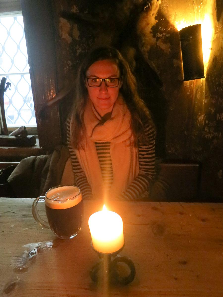 Wandering Helene in a medieval pub - Prague