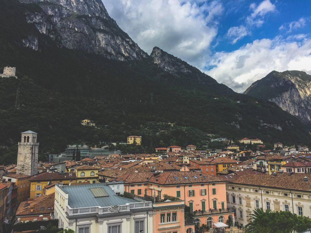 view from rocca in Riva del Garda