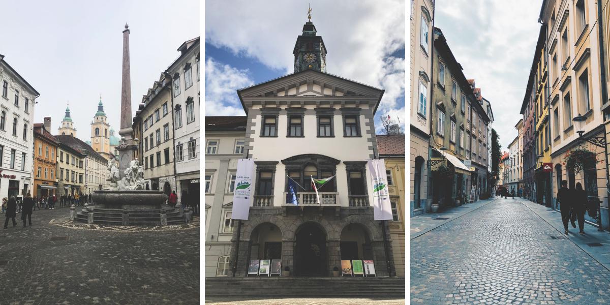 Mestni Trg in Ljubljana Slovenia