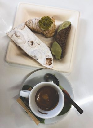espresso and pastries