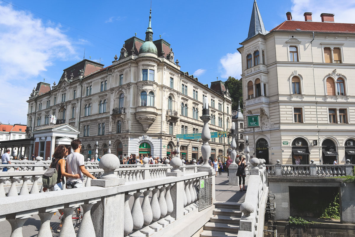 triple bridge ljubljana in a day