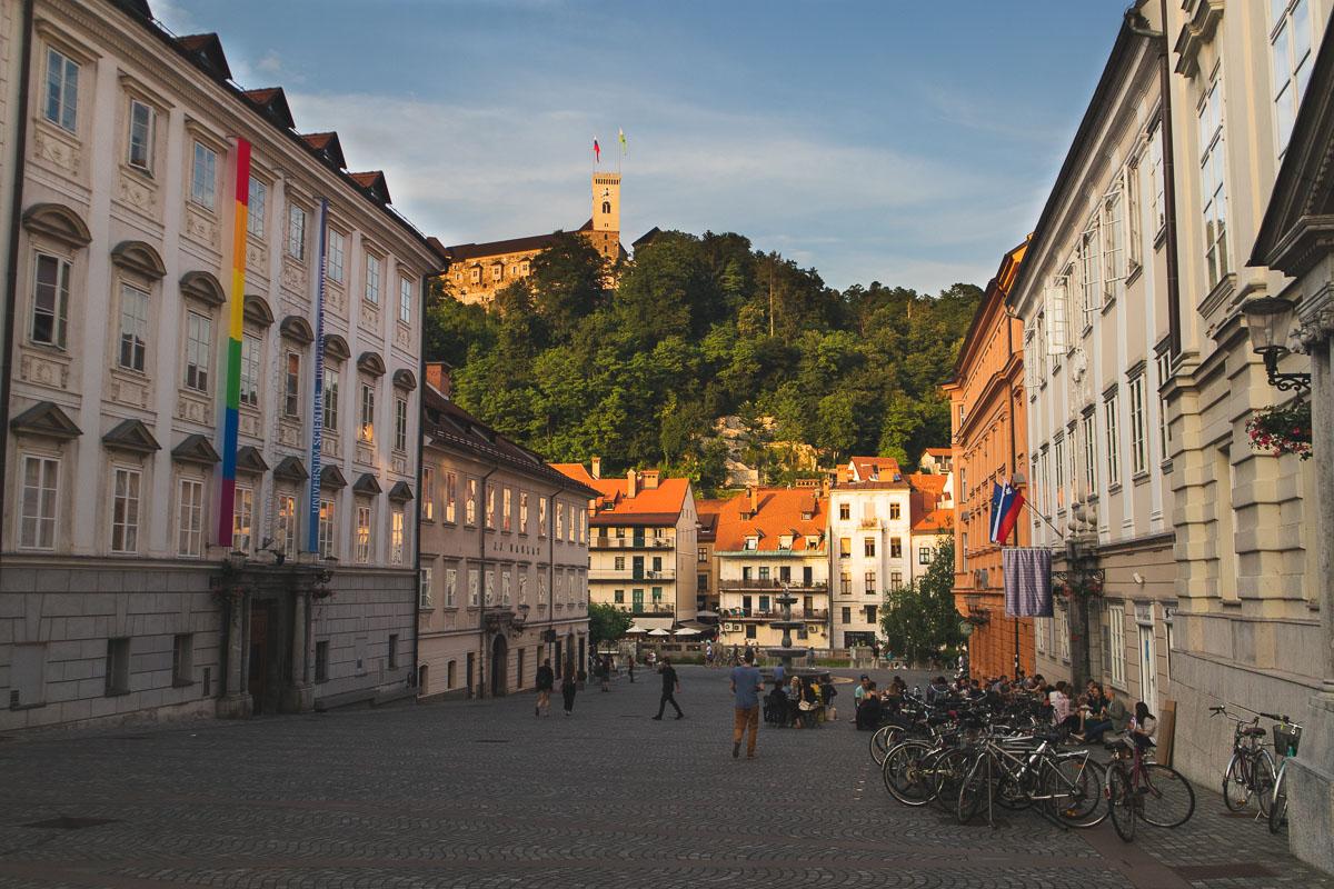 Ljubljana in the summer