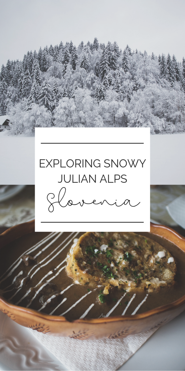 Is Slovenia worth visiting in the winter? YES! The Julian Alps are incredible once they are snow covered, the lakes once they freeze over, the deafening silence of being surrounded by more snow than you can comprehend. I share a few spots you can go and check out amazing sights and eat some incredible food to warm up on a snowy day in Slovenia. #slovenia #europeantravel #traveldestinations #wintertravel #travelinginwinter #triglavnationalpark #julianalps