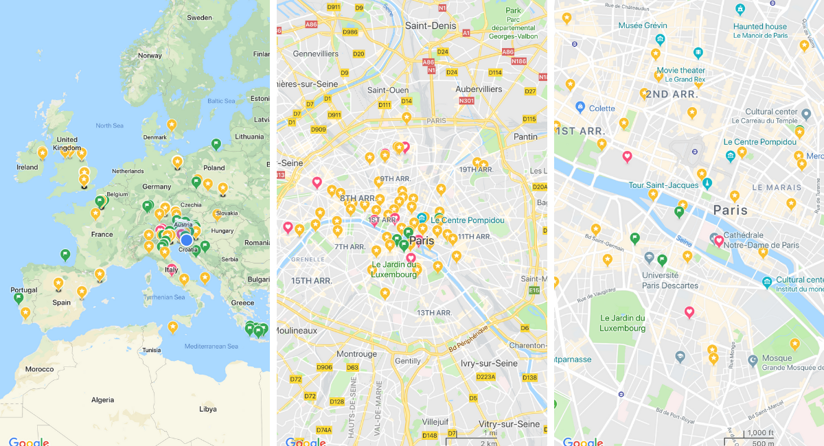 Useful Google Maps Tips for Every Traveler | Wandering Helene on google latitude, bing maps, satellite map images with missing or unclear data, bing maps platform, nokia maps, google moon, google mars, google earth, google map maker, web mapping, route planning software, google voice, google sky, yahoo! maps, google search,