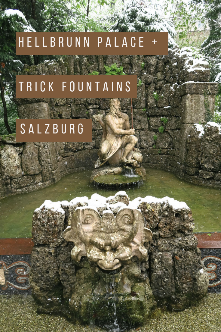 Everything about visiting Hellbrunn Palace and Trick Fountains in Salzburg, Austria. How to get there, tours, and history about the palace. A unique and fun tour perfect for families, artists, castle lovers, and playful souls. #salzburg #palace #europeantravel