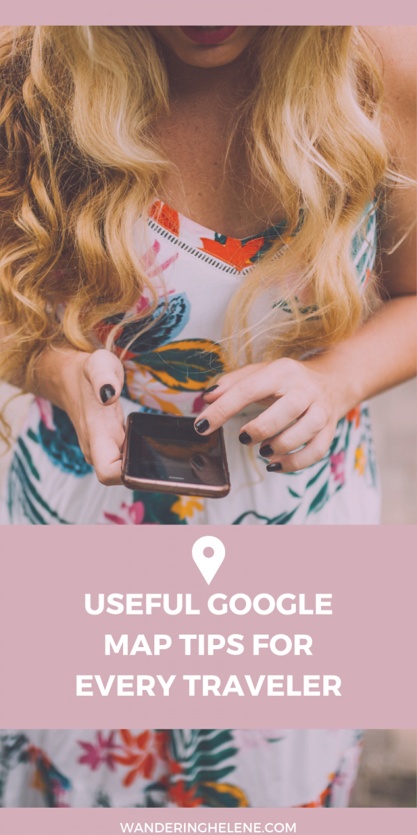 Useful Google Maps tips for all travelers! Learn how to get the most out of this free app! Make your own maps for your next trip, learn how to see more information on maps, and other tricks. #travel #traveltech #app