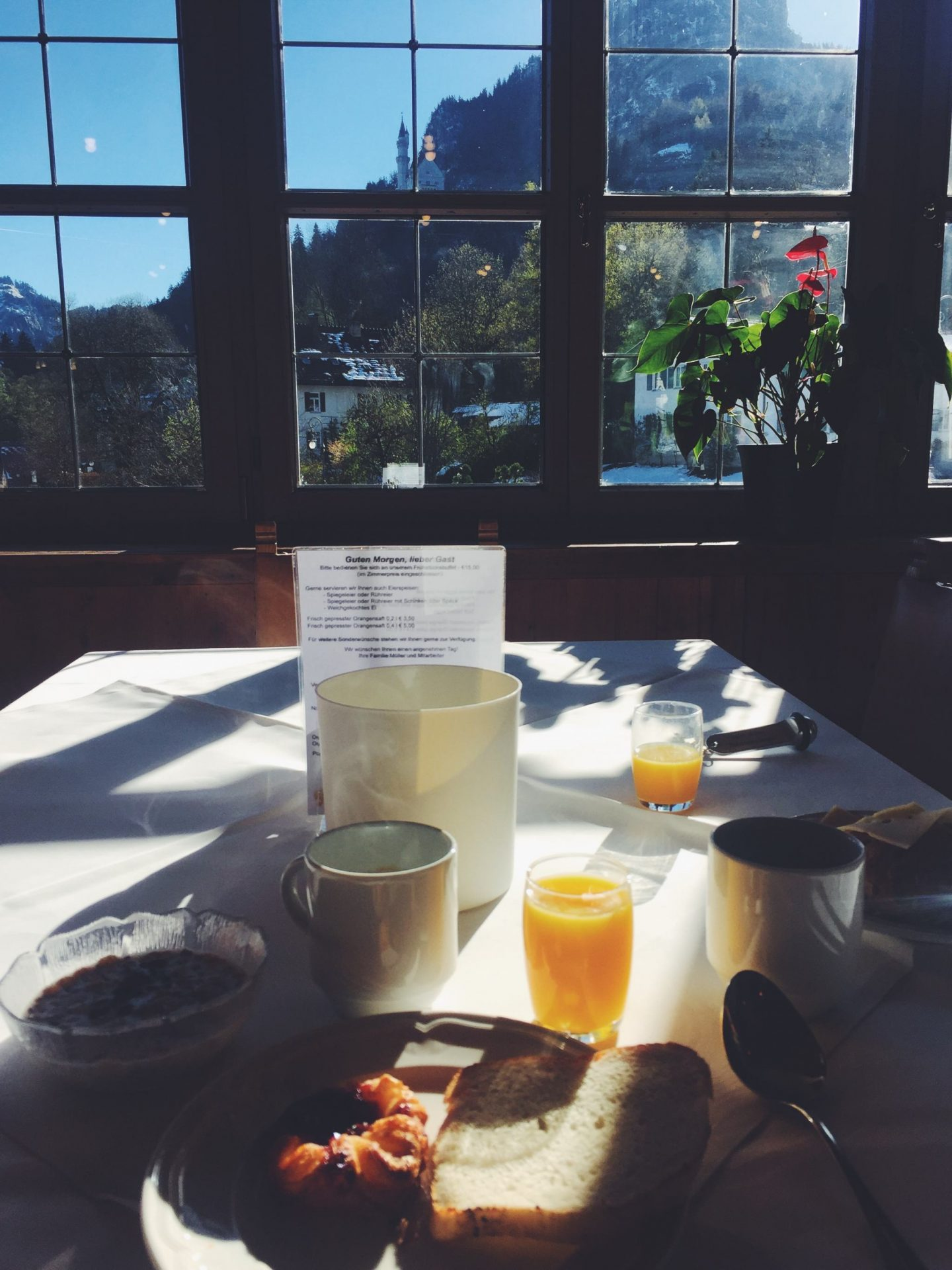 neuschwanstein view at hotel muller