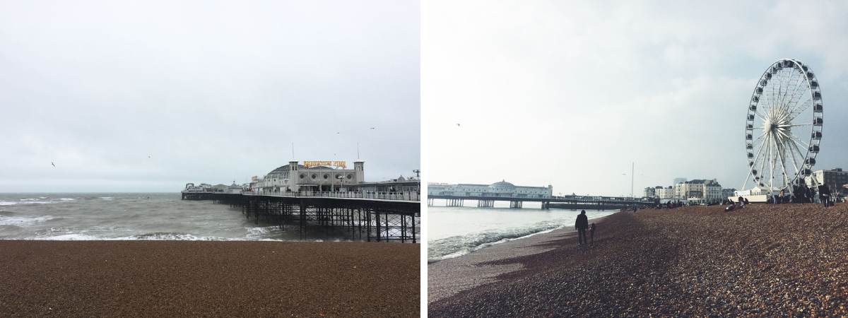 Brighton England coastline