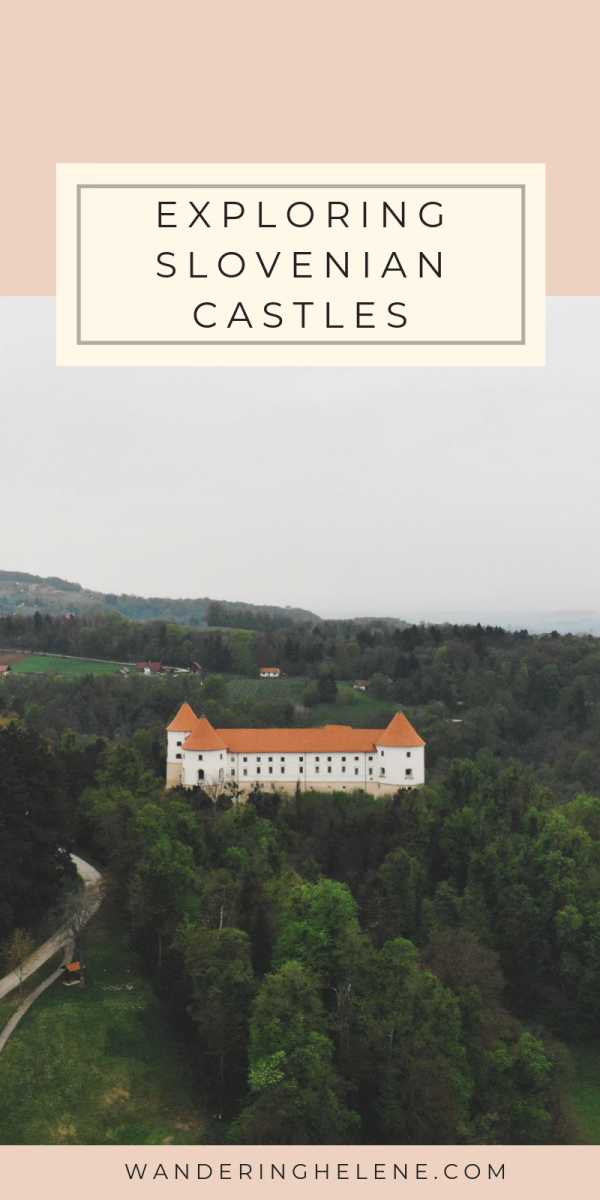 A weekend spent on the Slovenian-Croatian border exploring castles and museums. Stay overnight in Mokrice Castle, fit for a queen, with the most beautiful dining room, and explore Slovenian history at Brežice Castle. The perfect place to beat the crowds or as a stop between Zagreb and Ljubljana! #Slovenia #castles #traveldestinations #tourism #europeantravel
