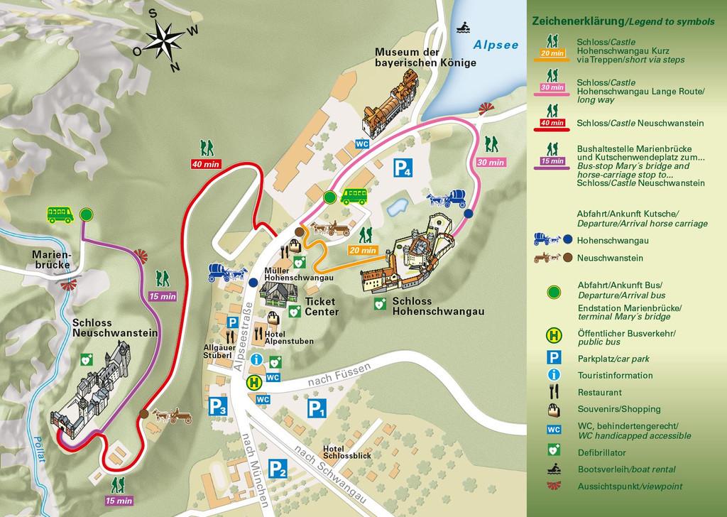 Hohenschwangau Map