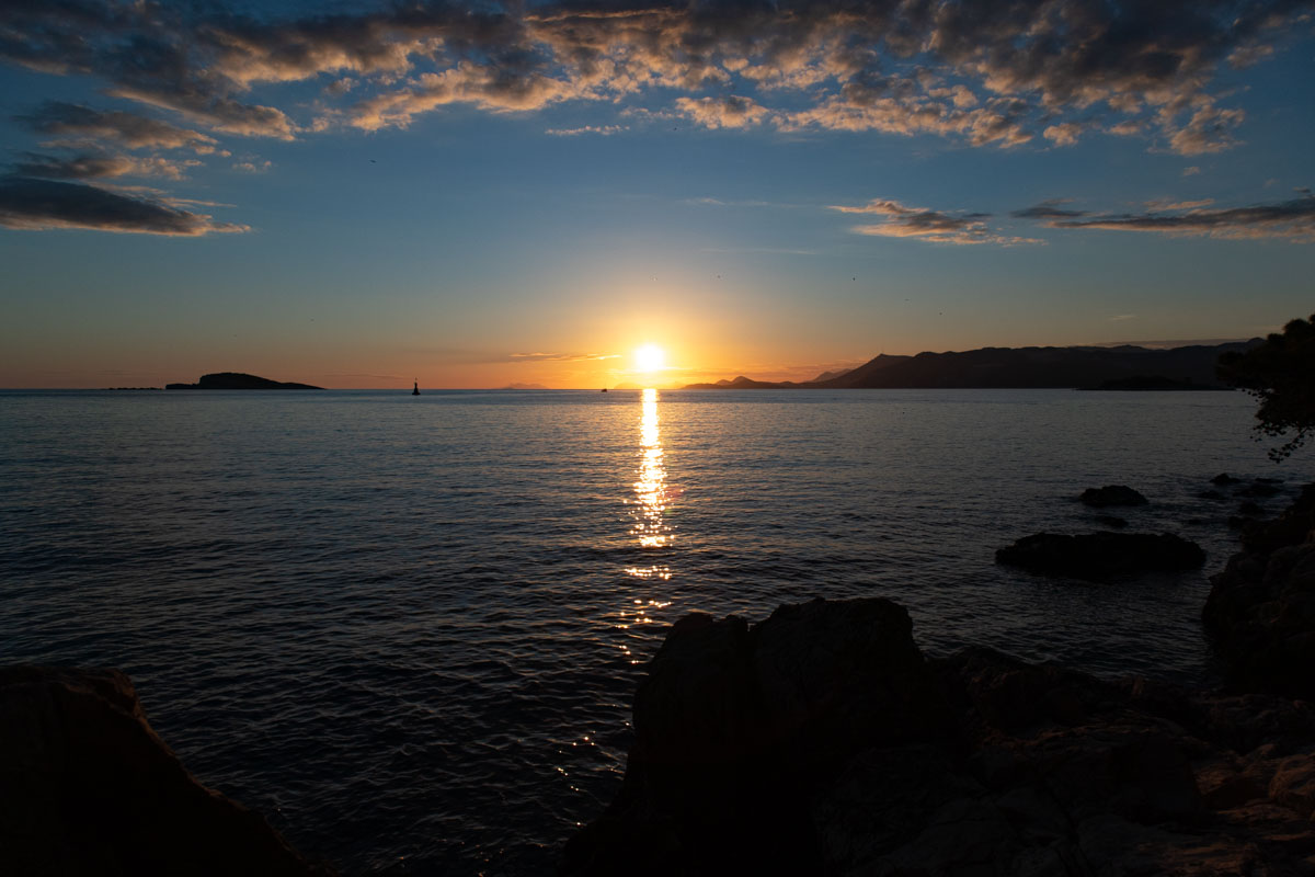 sunset in Cavtat