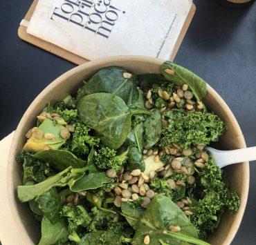salad from Bife in Ljubljana, Slovenia