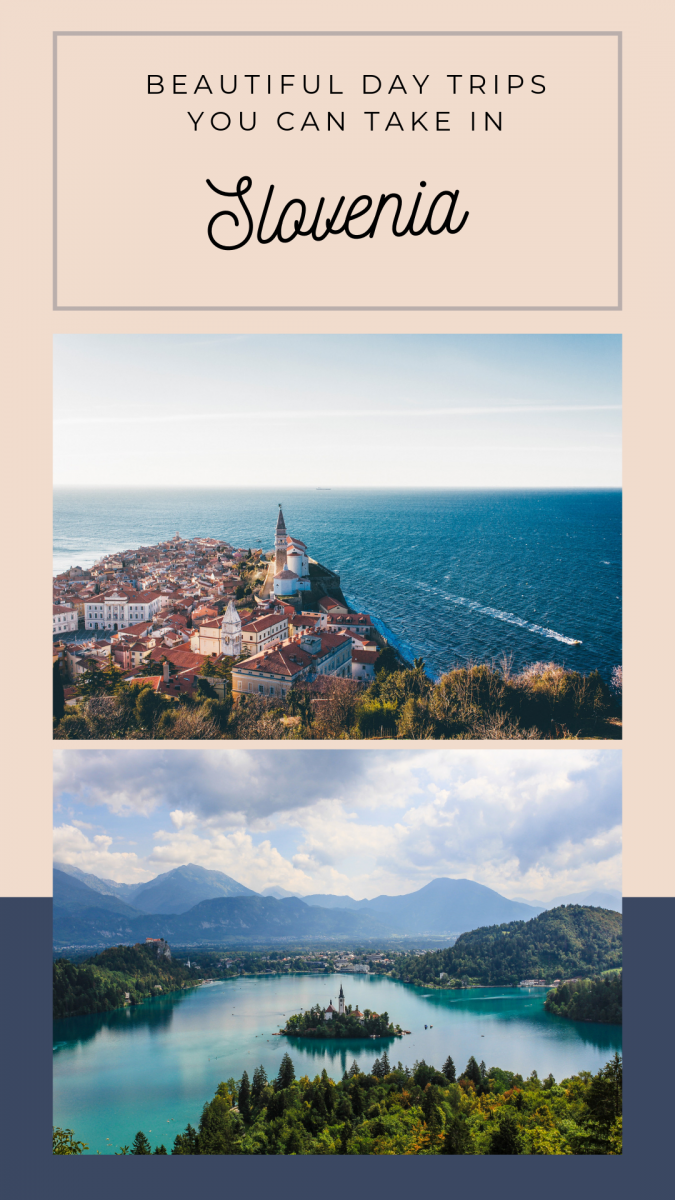 15 beautiful and easy to reach day trips around Slovenia. All of them can be accessed from Ljubljana - or wherever! Explore Piran at the seaside, Triglav National Park, castles, food, and everything Slovenia. #slovenia #ljubljana #travel #daytrips #alps #europeantravel #traveldestinations