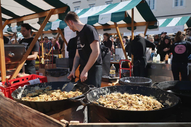 Open Kitchen market in Ljubljana