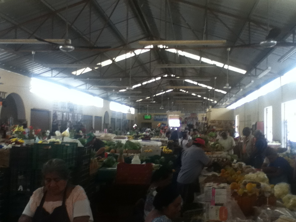 Shows the inside of a Mexican Market