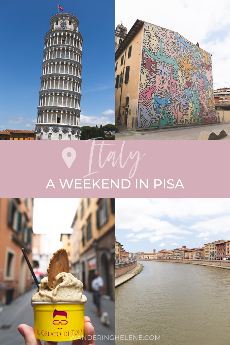 Pin for pinterest: a weekend in pisa