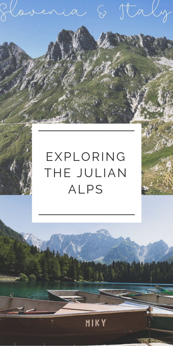 An epic day trip from Ljubljana will take you to Gorenjska to Lake Jasna, then across the border to Fusine Lakes in Italy, and back into Slovenia to drive on the highest road in the country for some hairraising fun and incredible views. #Slovenia #lakes #alpinelakes #julianalps #italy #travel #europeantravel