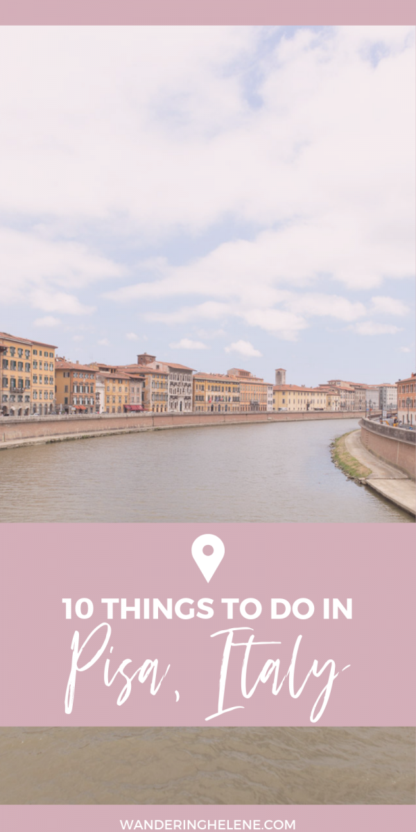 10 things you can do while visiting Pisa, Italy. See the major sights, indulge in gelato, relax and live like the Italians. Don't miss Marina di Pisa a beautiful beach near Pisa! #pisa #travel #tuscany