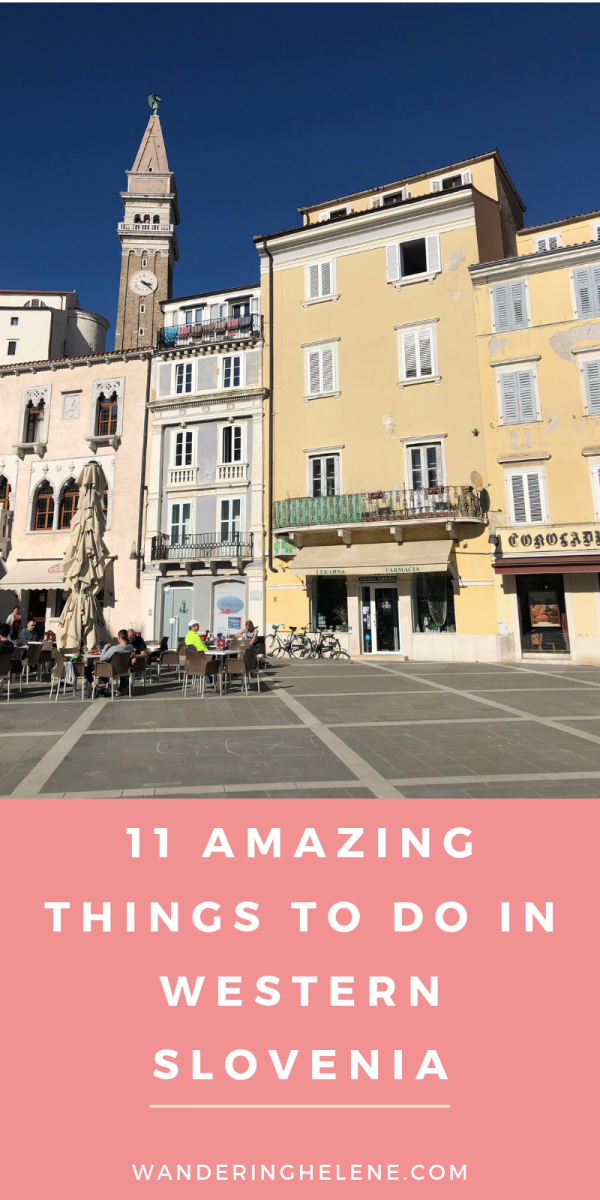 11 amazing things that you can do while visiting Western Slovenia from the Julian Alps to the wine region to the seaside! A little something for everyone; families, solo travel, couples, adventure, caves, gastronomy. Add Slovenia to your next itinerary. #slovenia #travel #tourism #traveldestinations #food #culture