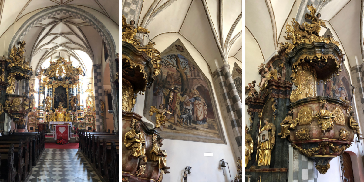 Inside St. Elizabeth church in Slovenj Gradec