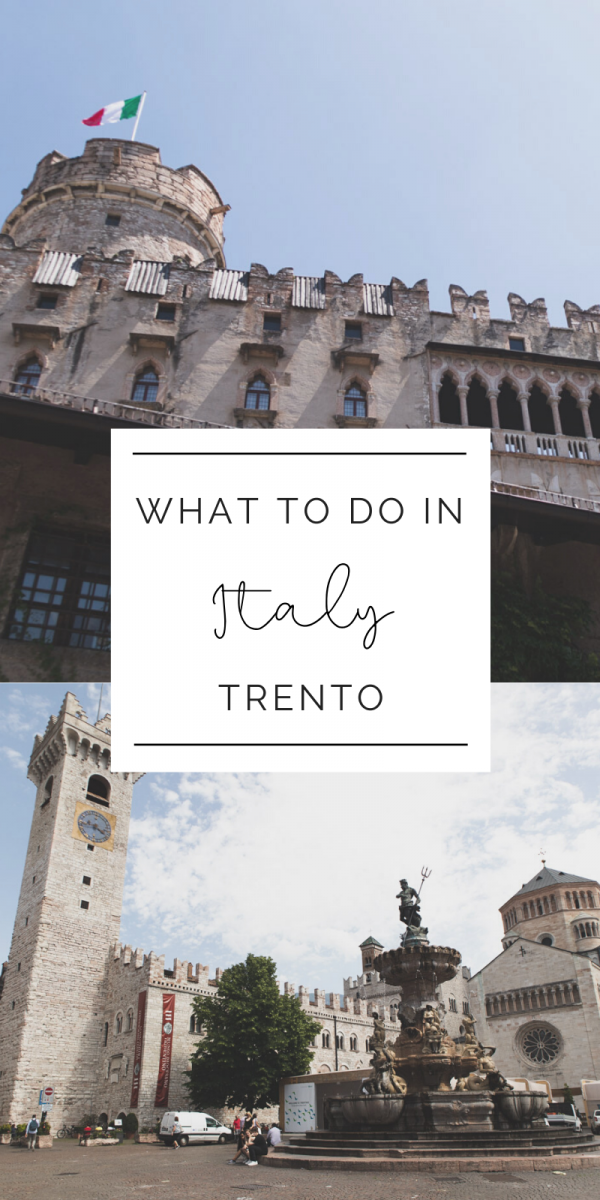 Read how to spend a weekend in Trento, Italy. The capital of Trentino it has a rich and delicious history. Explore the Buonconsiglio Castle, medieval art museums, stroll the streets with your favorite gelato, and end the day with a glass of Trento DOC. Find out where to stay, where to eat, and how to spend your days with the three day itinerary to Trento. #italy #travel #tourism #traveldestination #northernitaly