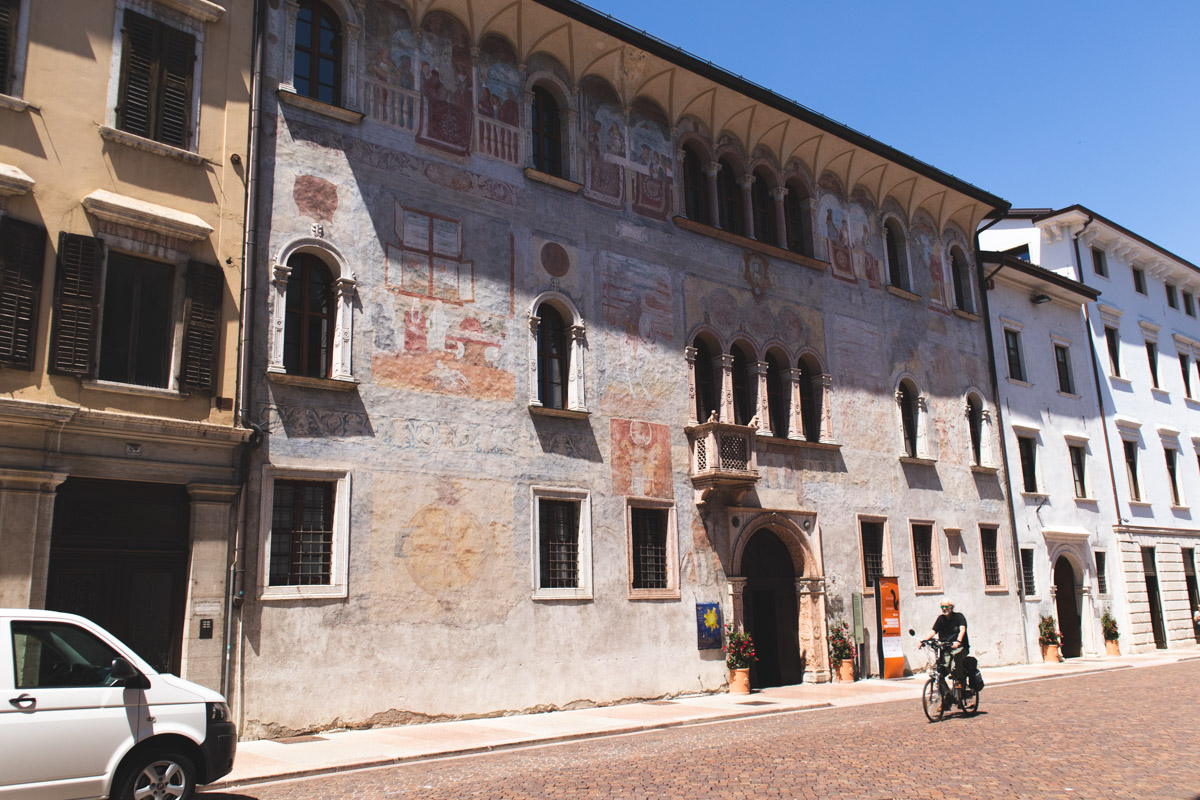 Trento painted buildings