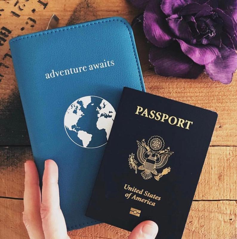passport case with charger travel gift