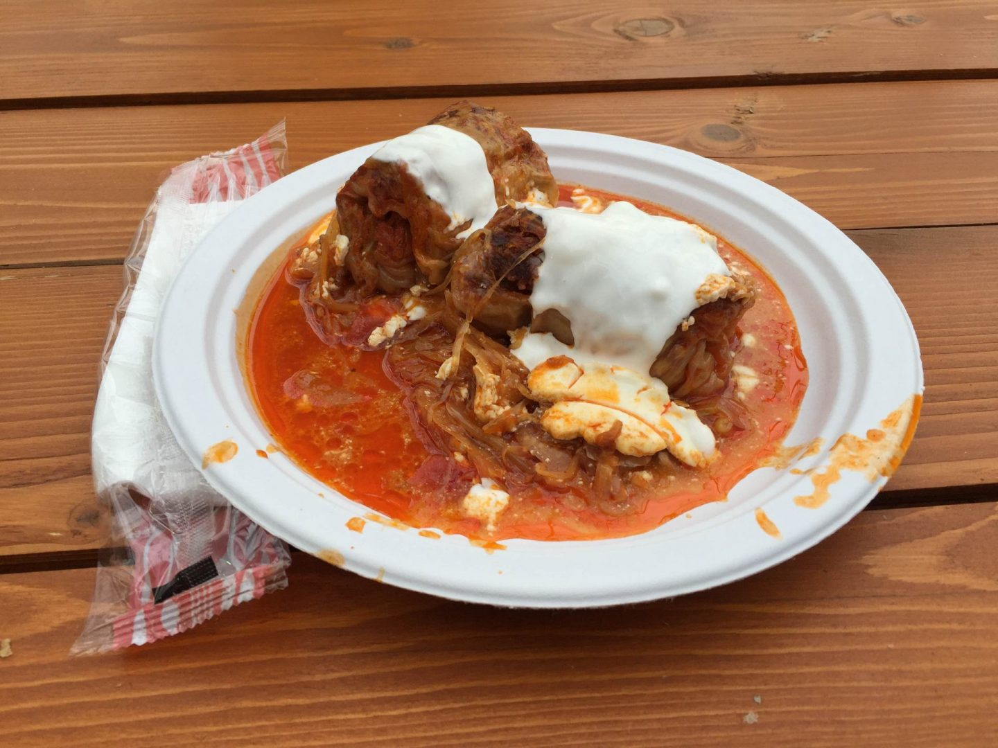 stuffed cabbage budapest christmas market food