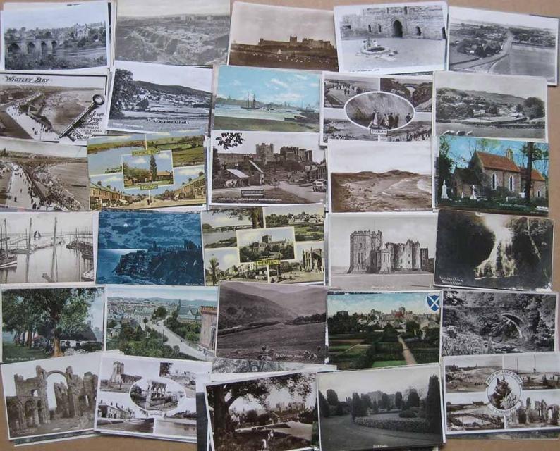 vintage postcards for travel diy
