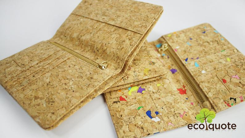 eco-friendly cork passport cover gift