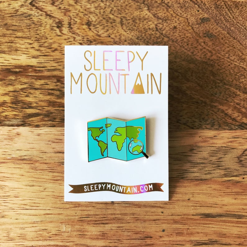 enamel map pin unique travel gifts
