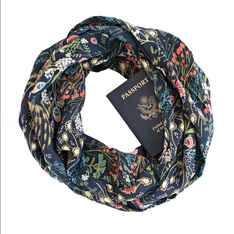 hidden pocket infinity scarf