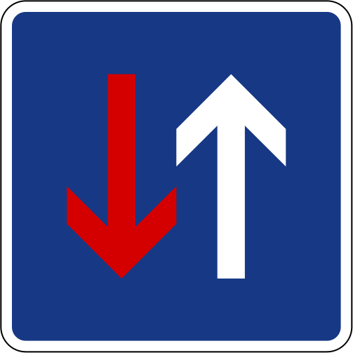 driving signs for Slovenia