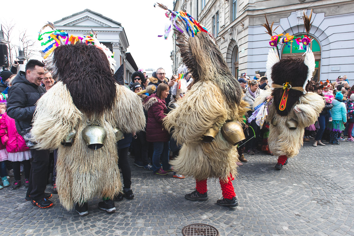 kurenti for pust (carnival) slovenia