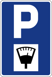 parking sign in Slovenia