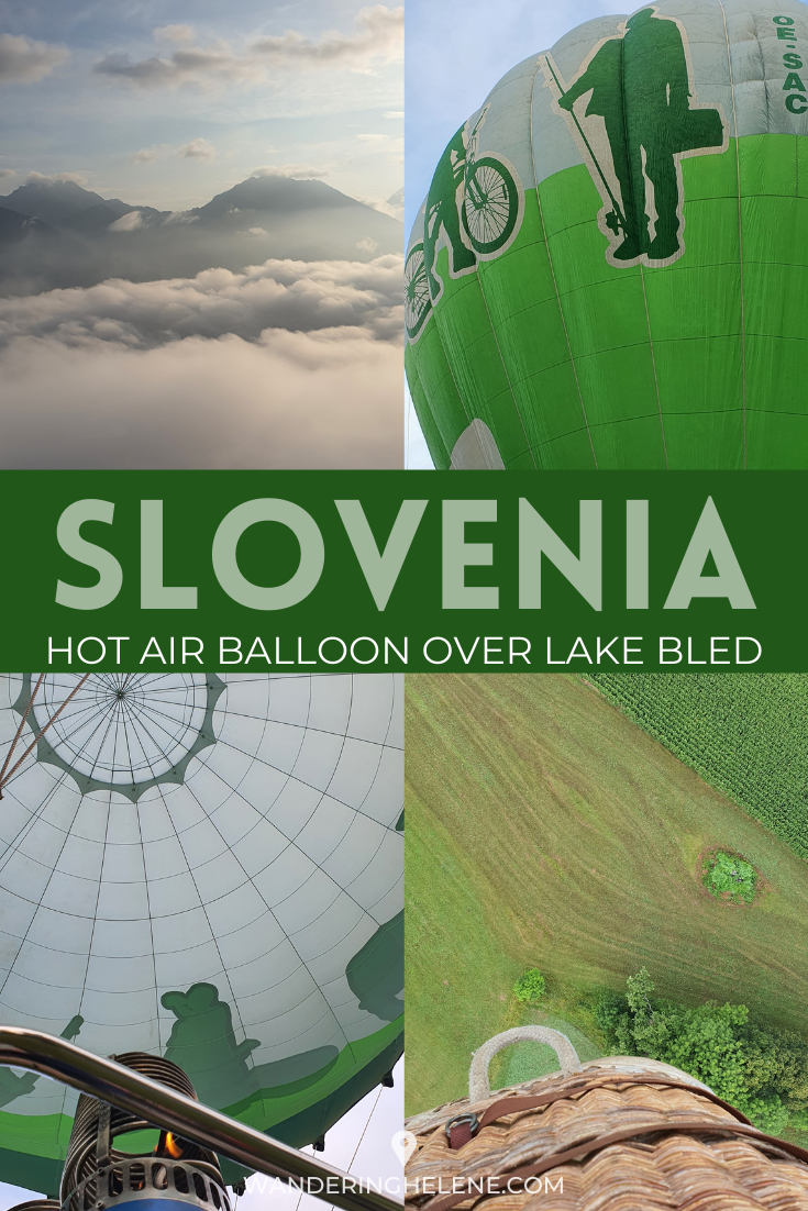 A Pinterest Pin with green and white hot air balloons
