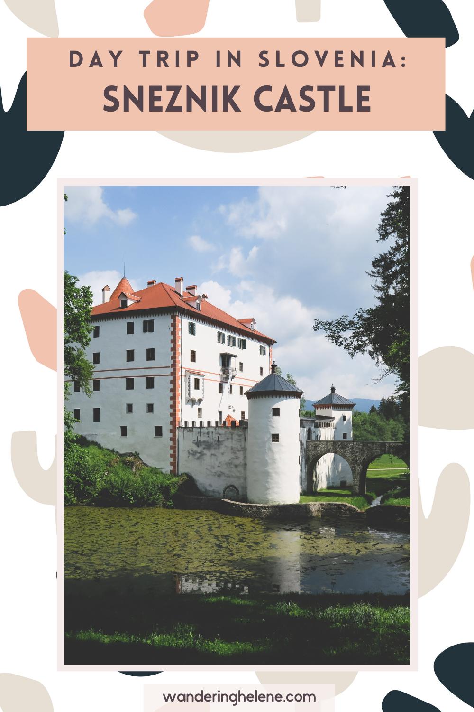 Pinterest Pin that shows Sneznik Castle