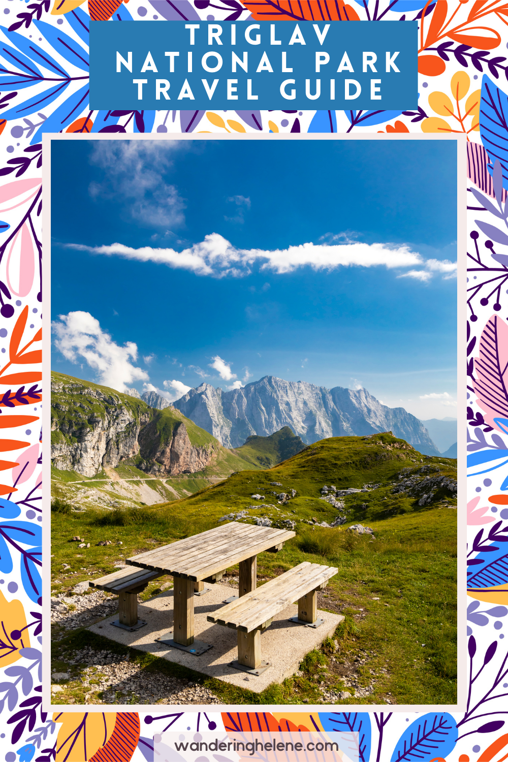 Pinterest Pin for Triglav National Park