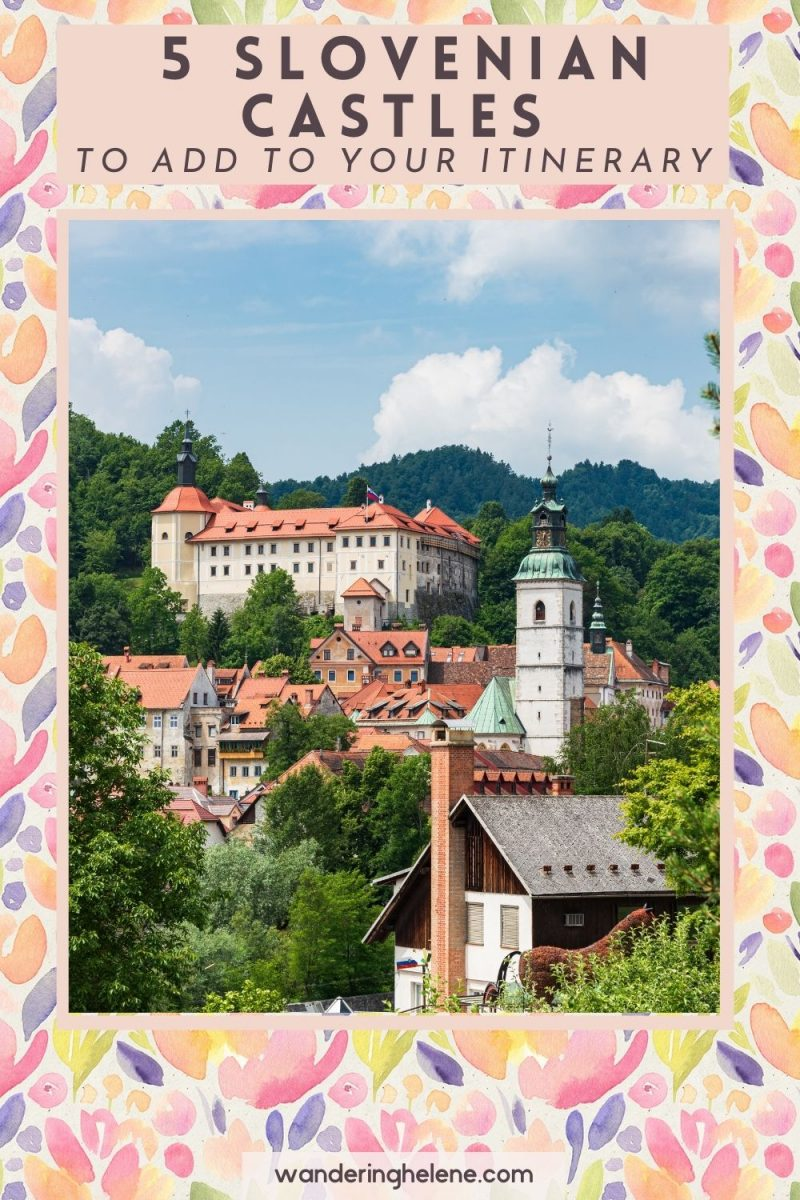 Castles near Ljubljana pinterest pin