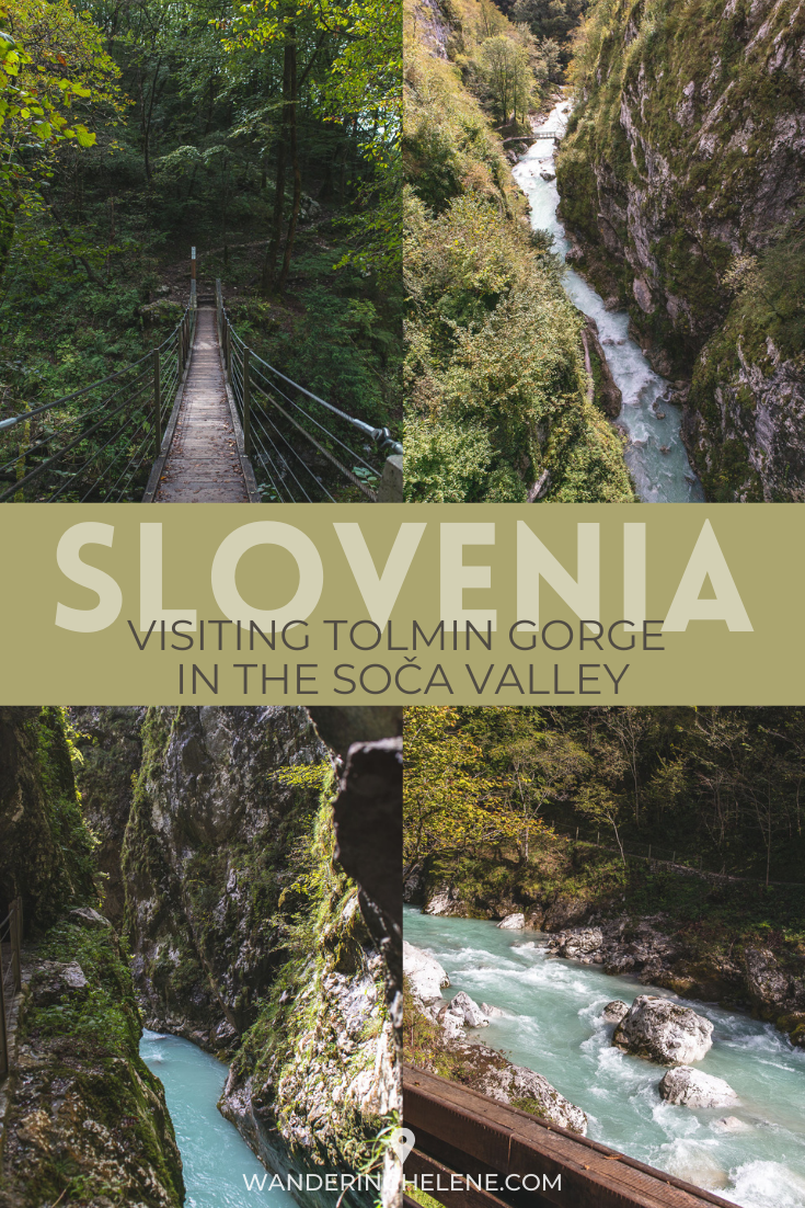 A Pinterest Pin for Tolmin Gorge